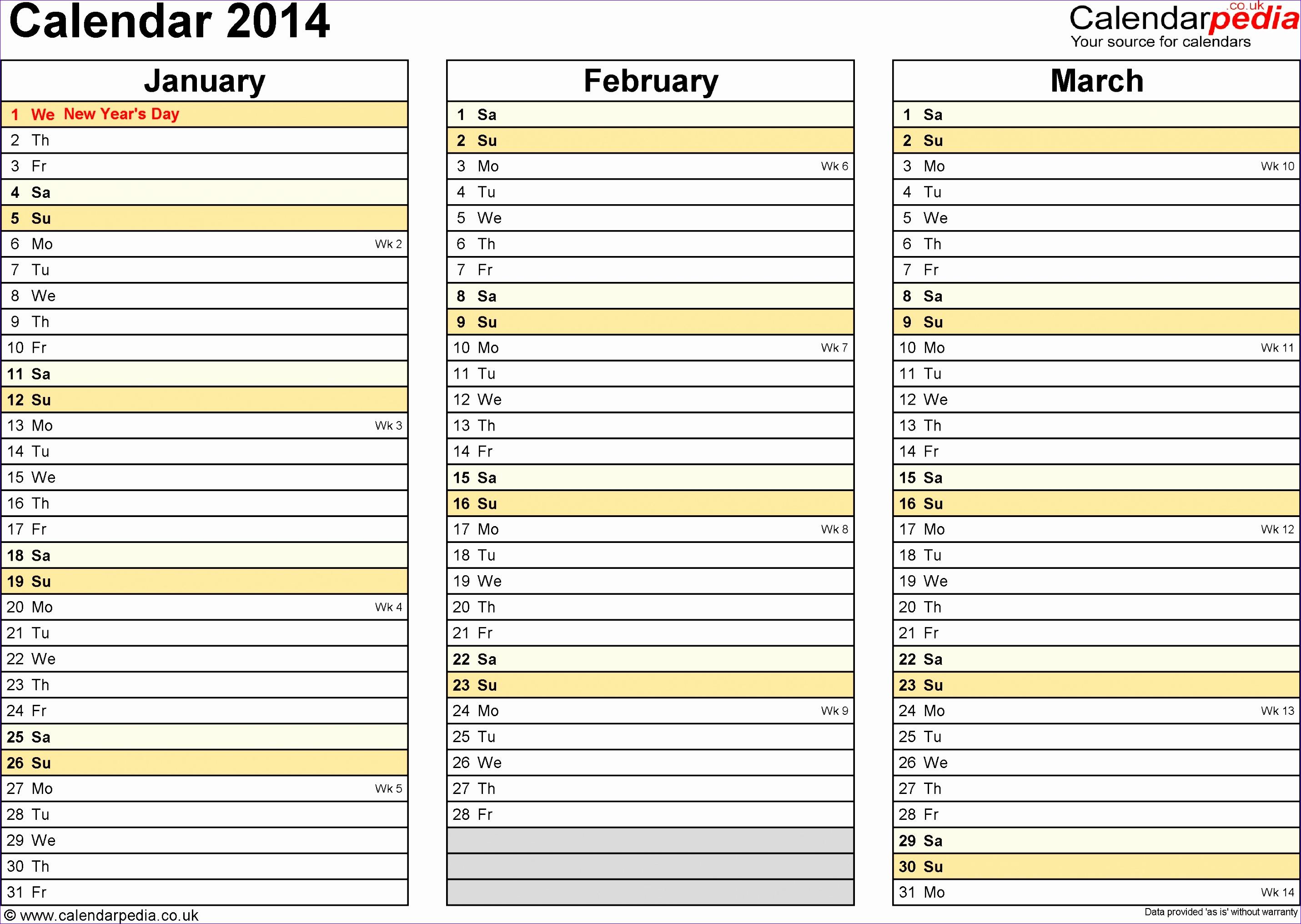 daily calendar template 2014 28612032