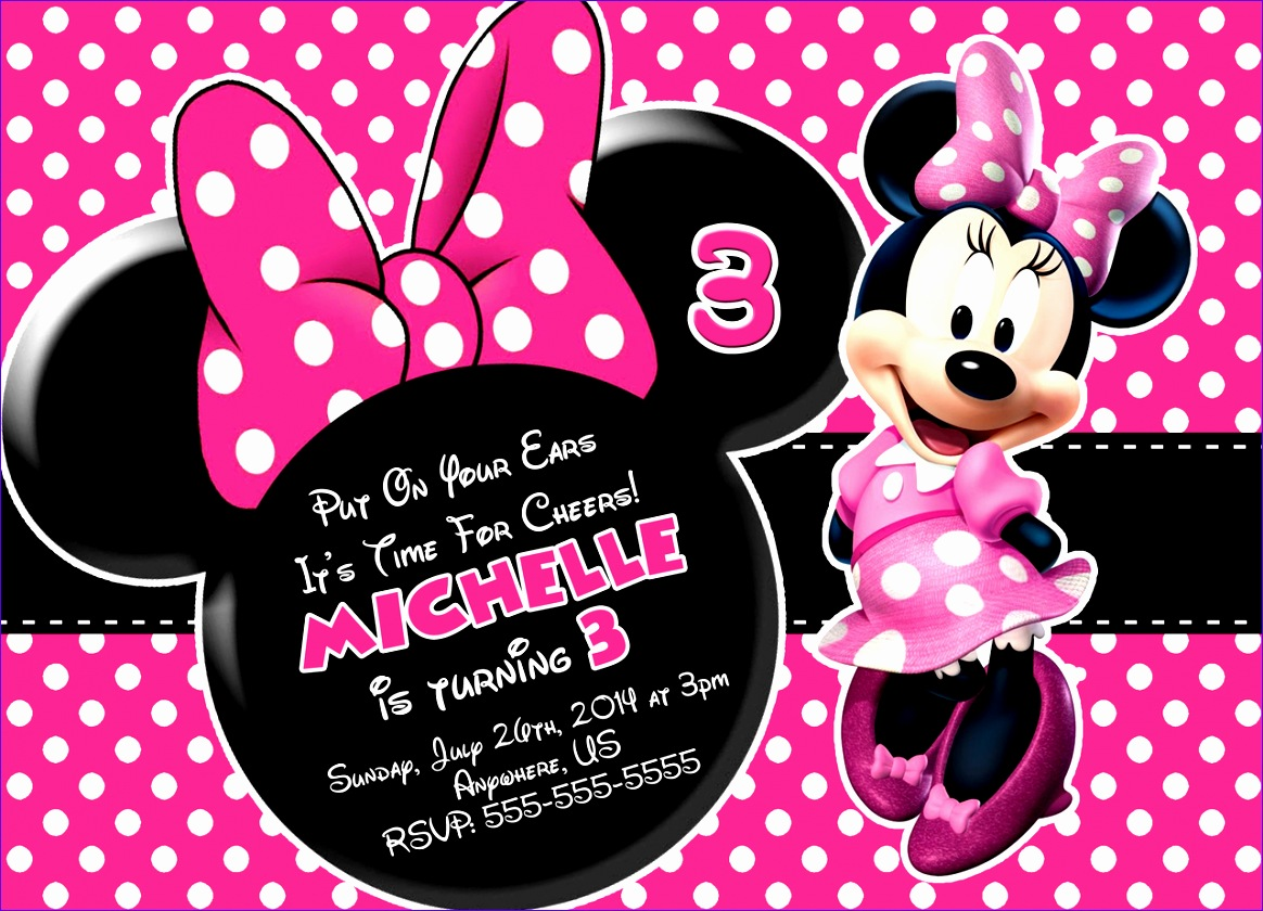 minnie mouse invitations 1205 1164840