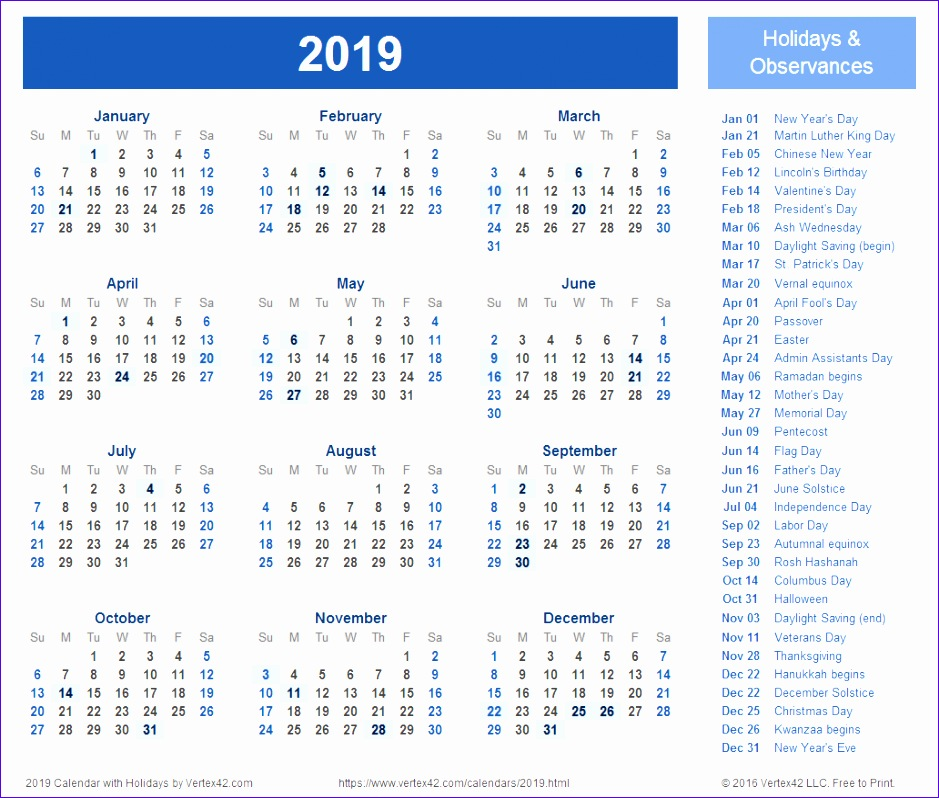 calendar printable with holidays 939798