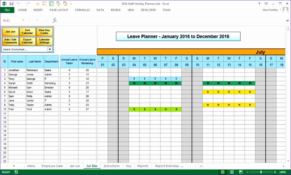 anual leave planner template manage staff leave with this excel 1106667