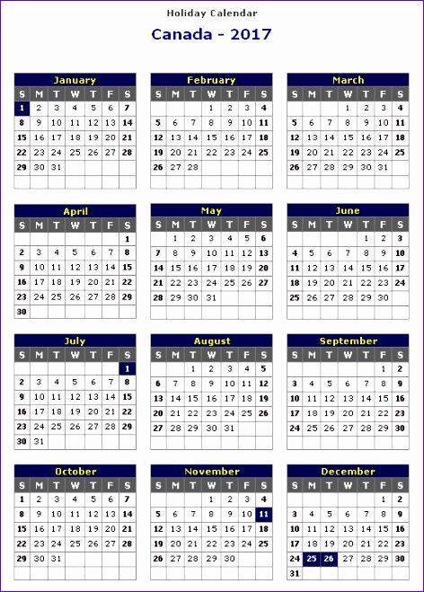 Excel Calendar Template Free Rykk4 Lovely 2017 Calendar Canada 519717