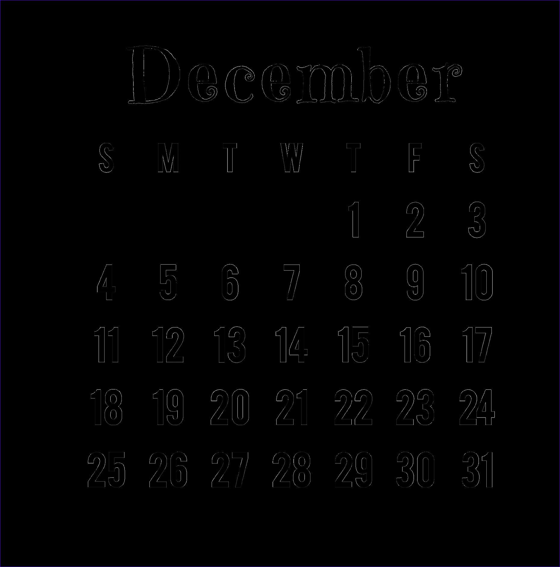 december 2016 calendar png 18631884