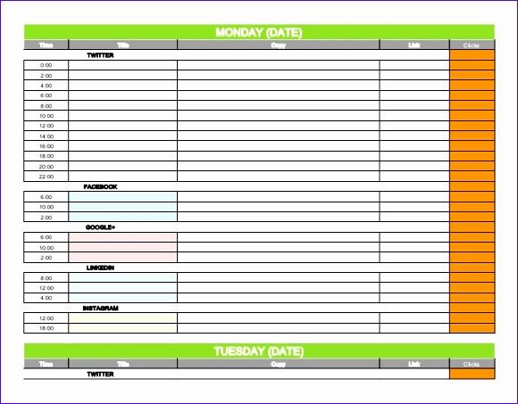 social media calendar template 2016