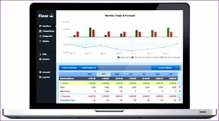 cash flow projection template excel for business 744412