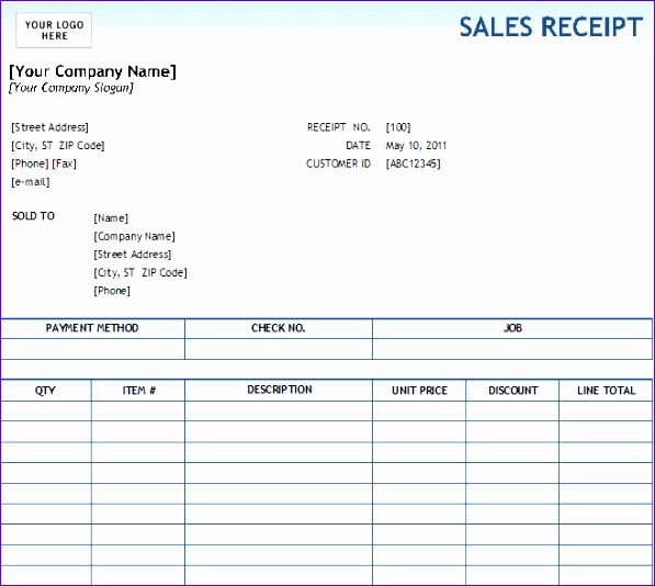 Excel Cash Receipt Template Scsjl Lovely Excel Sales Receipt Excel Receipt Template 657581