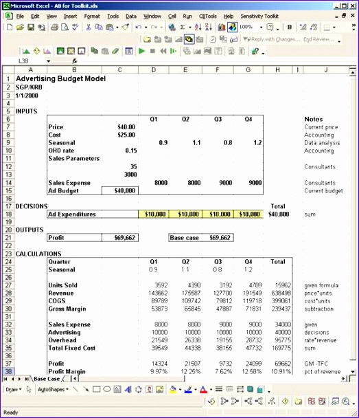 marketing and bud excel sheet templates 523608