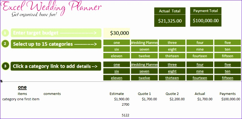 Excel Charts Templates Tzvge Elegant Free Excel Wedding Planner Template Download today 916445