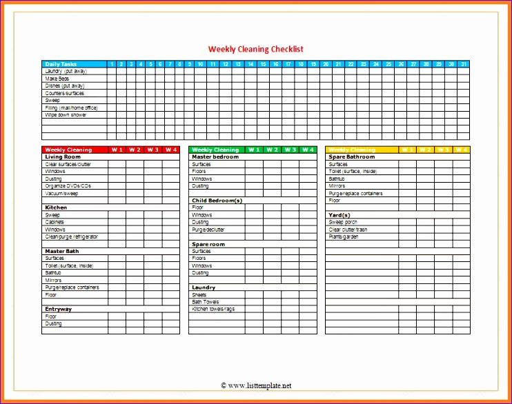 checklist template word 742586