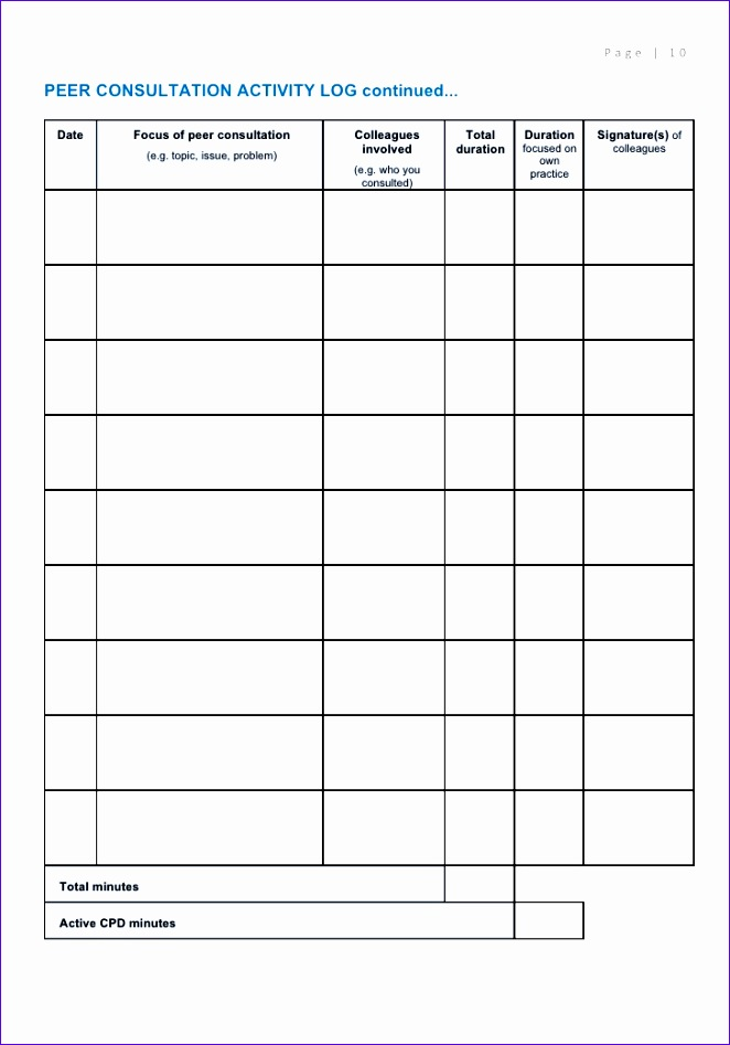 spa cpd journal template 2011 662947