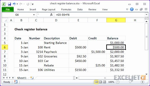 check register balance