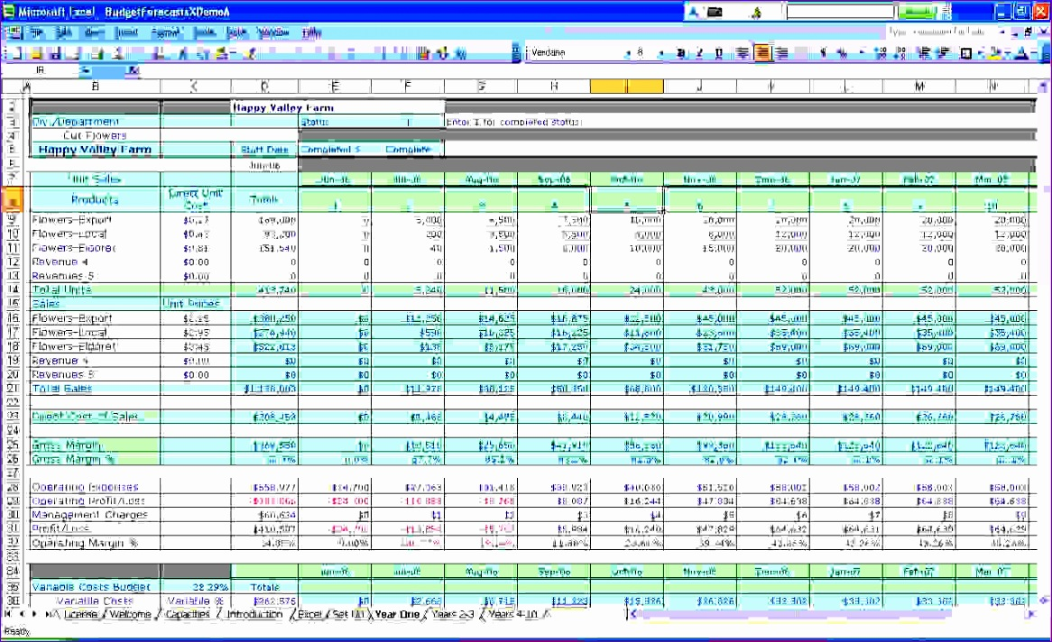8 business bud spreadsheet 1166712