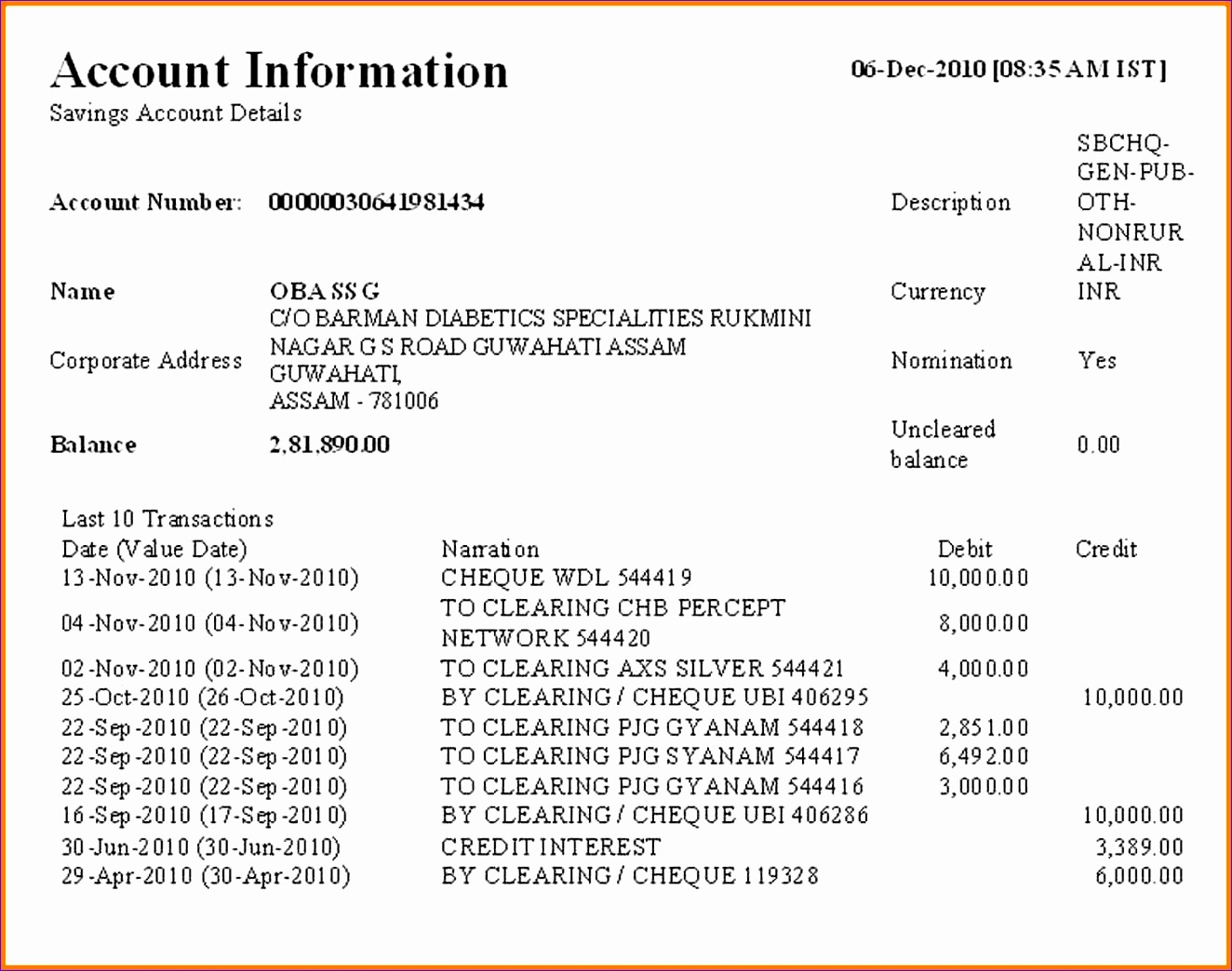 7 bank account statement sample 13241044