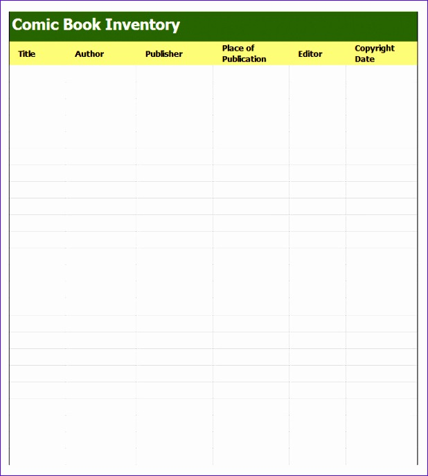 book inventory template 618686