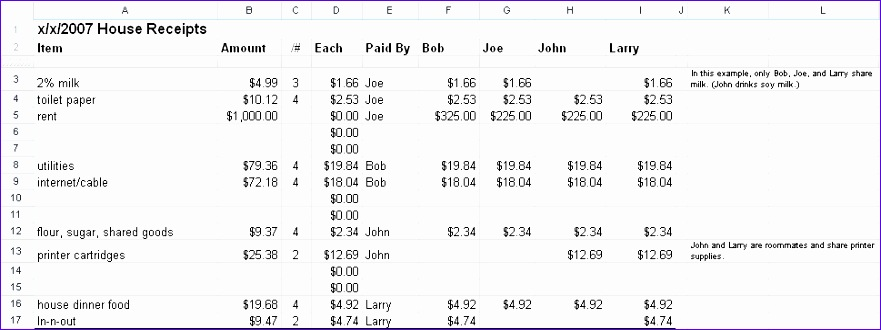 spreadsheet for tracking roommate expenses 881330