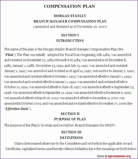 pensation plan agreement 480552