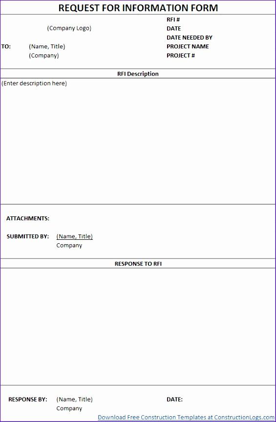 Free Rfi Form Template Construction Lightboxu003ddataItem Iljsvupd 565864  Construction Form Templates