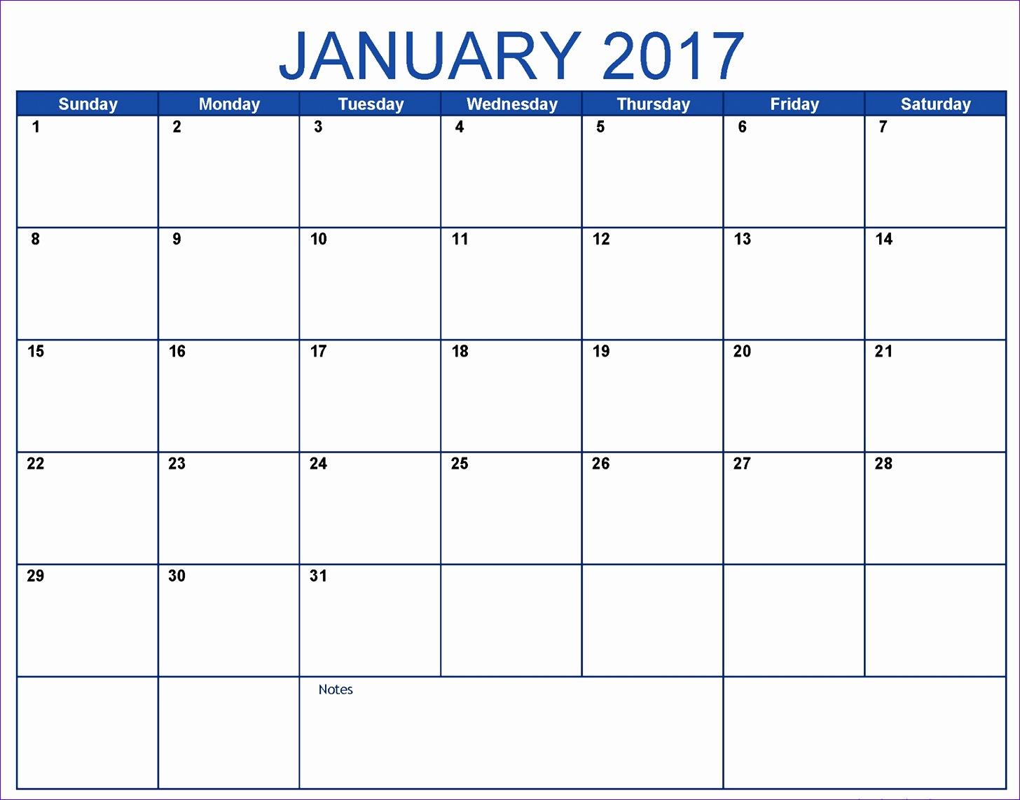 2017 calendar word sample 14561142