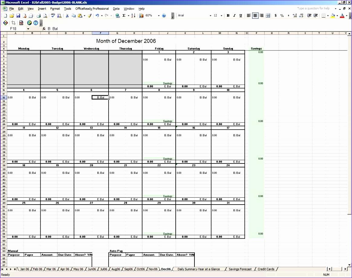 excel bud calendar template 1164920