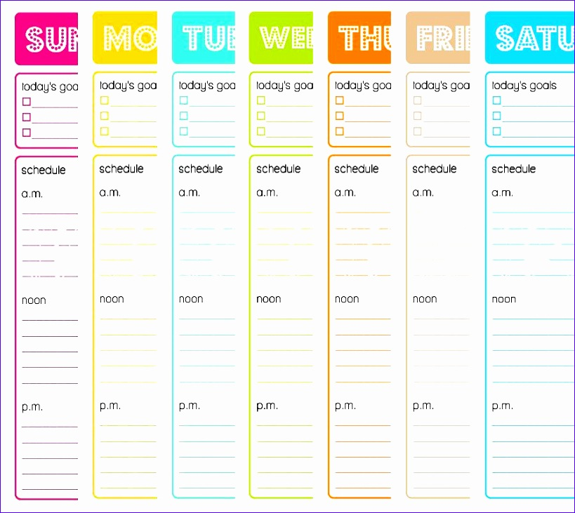 post hourly to do list template
