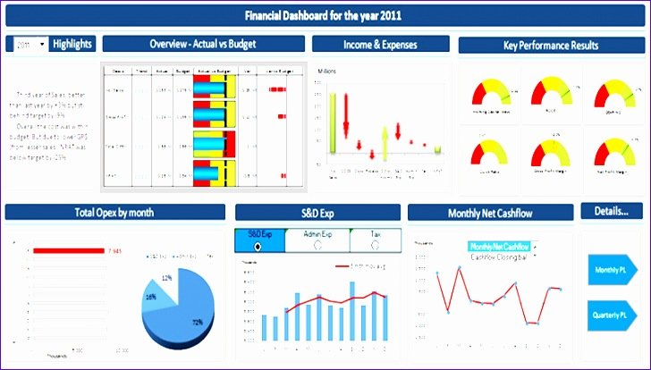 public program financial dashboard for reporting 728414
