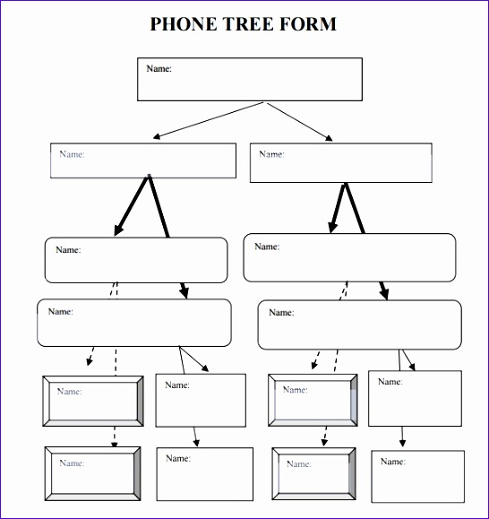 phone tree template 546579