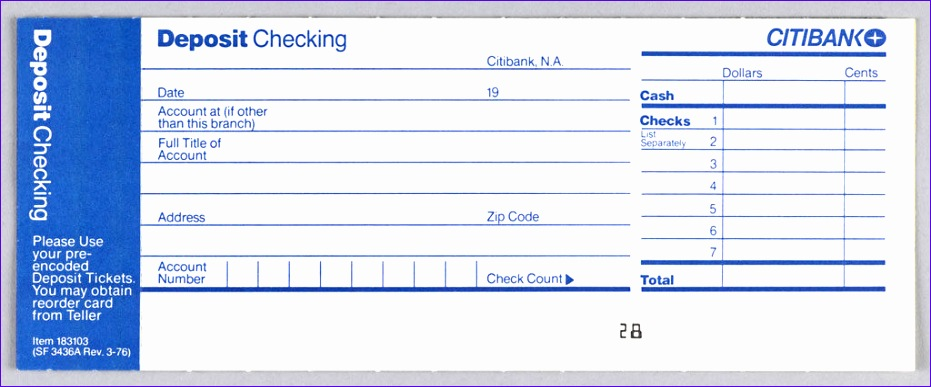 7 excel deposit slip template exceltemplates for Checking deposit slip template