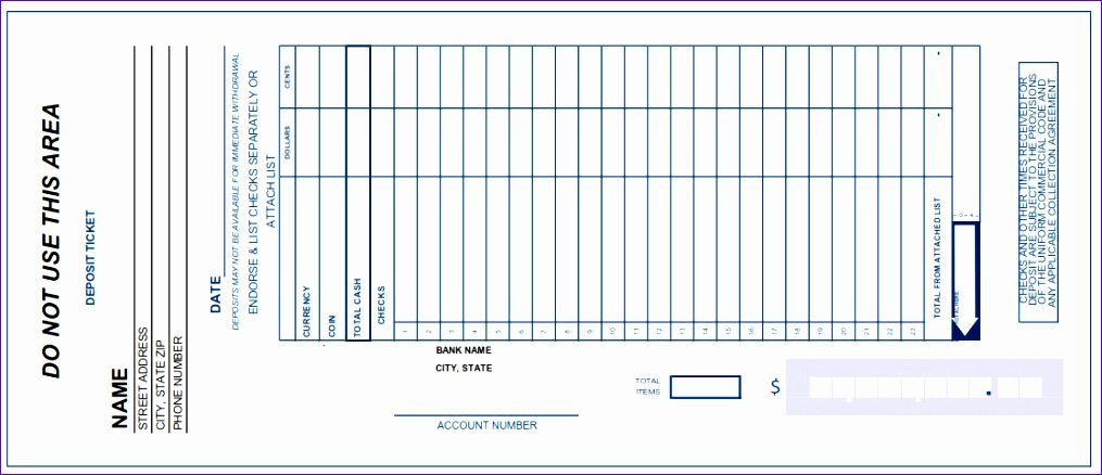 Excel Deposit Slip Template Tnkfe Beautiful 5 Bank Deposit Slip Templates Excel Xlts 1116477