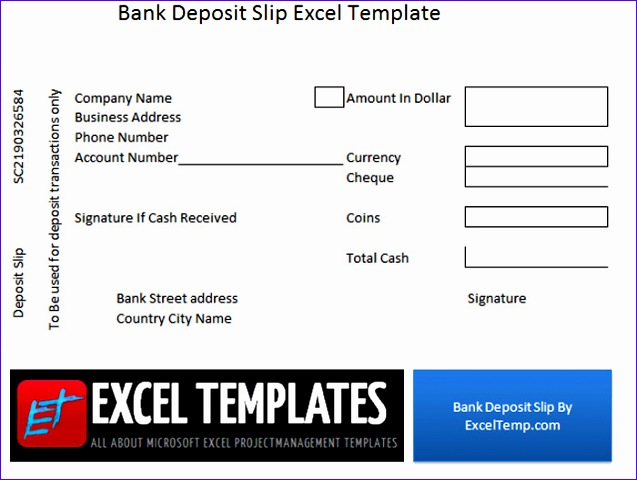 Excel Deposit Slip Template Ufkko Inspirational Download Bank Deposit Slip Excel Templates 700522