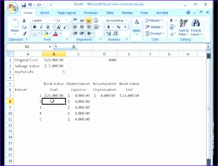 finance in excel 6 calculate double declining balance method of