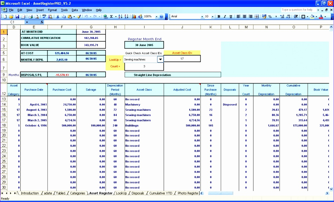 7 excel depreciation template - excel templates