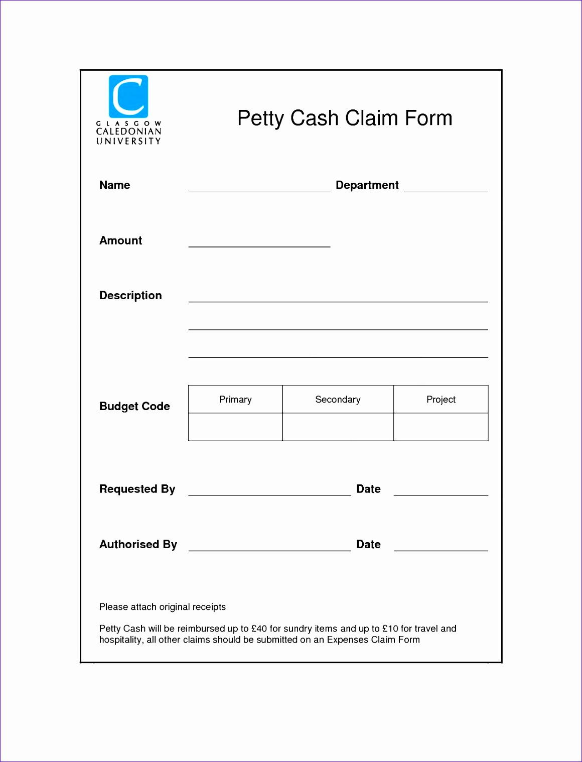 petty cash replenishment form template 11601518