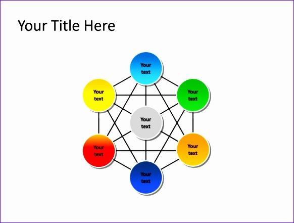 slide relationship diagram multicolor 6 sections pl 285 582441