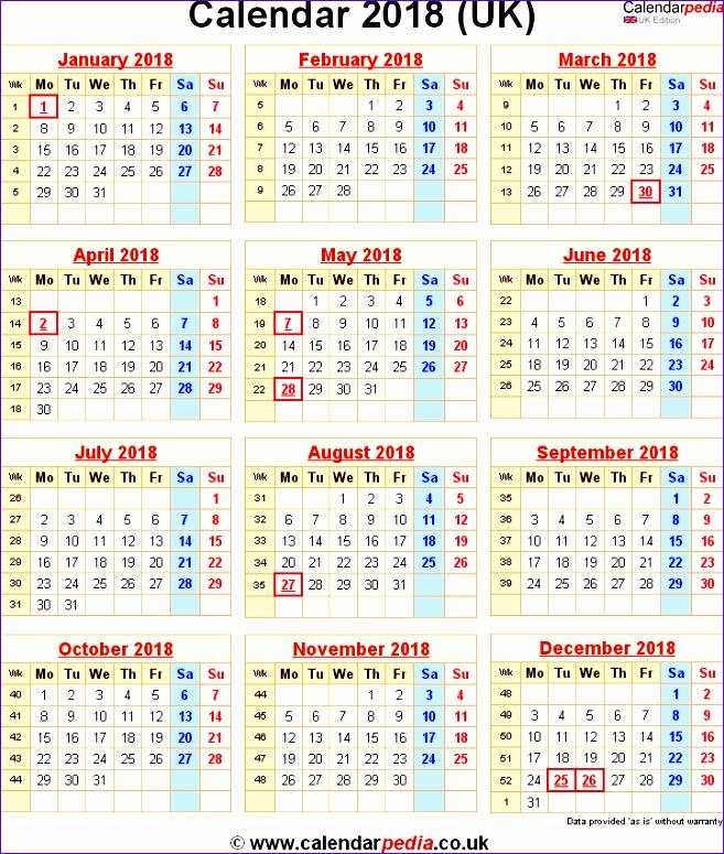 2018 calendar uk 852 657775