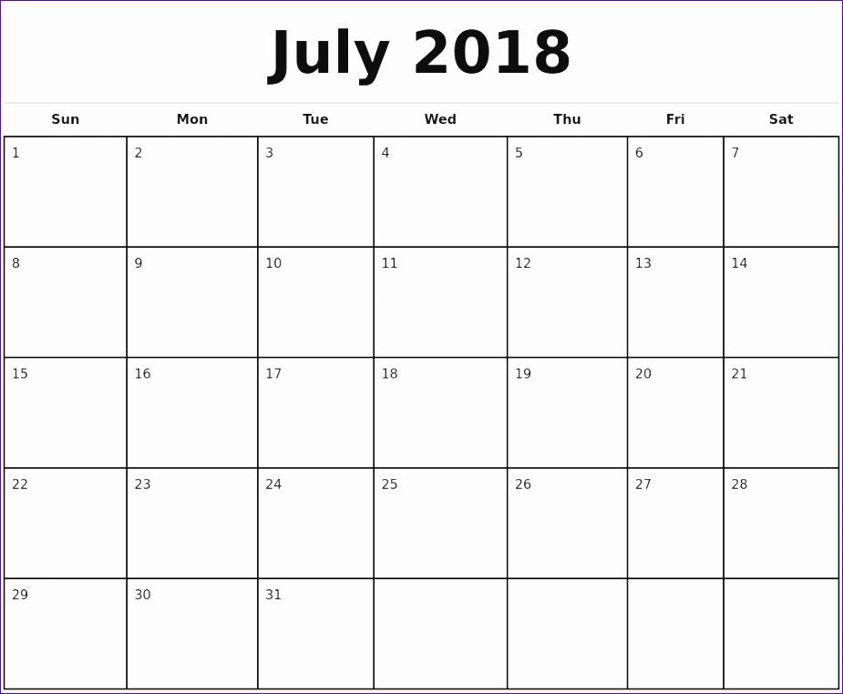 july 2018 calendar template 2834 925762