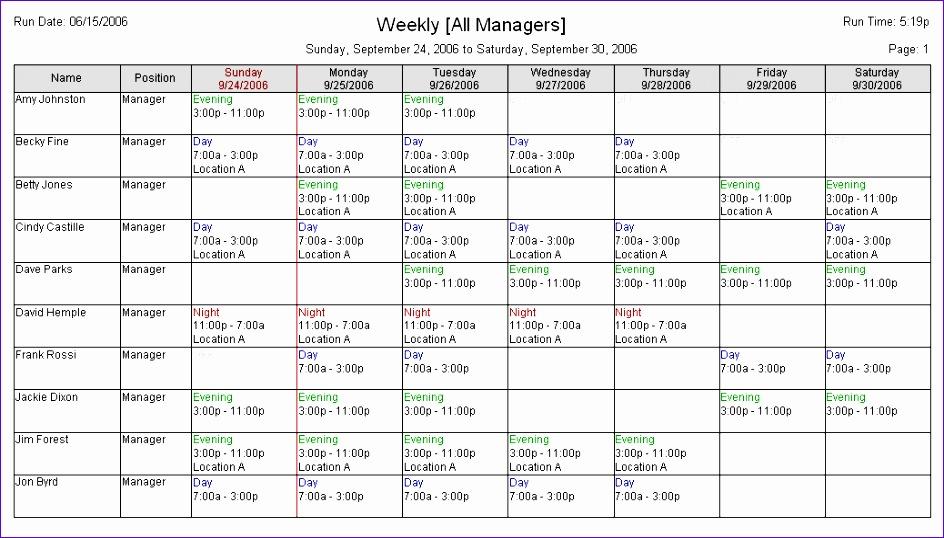 Excel Employee Schedule Template Ovxqy Inspirational Restaurant