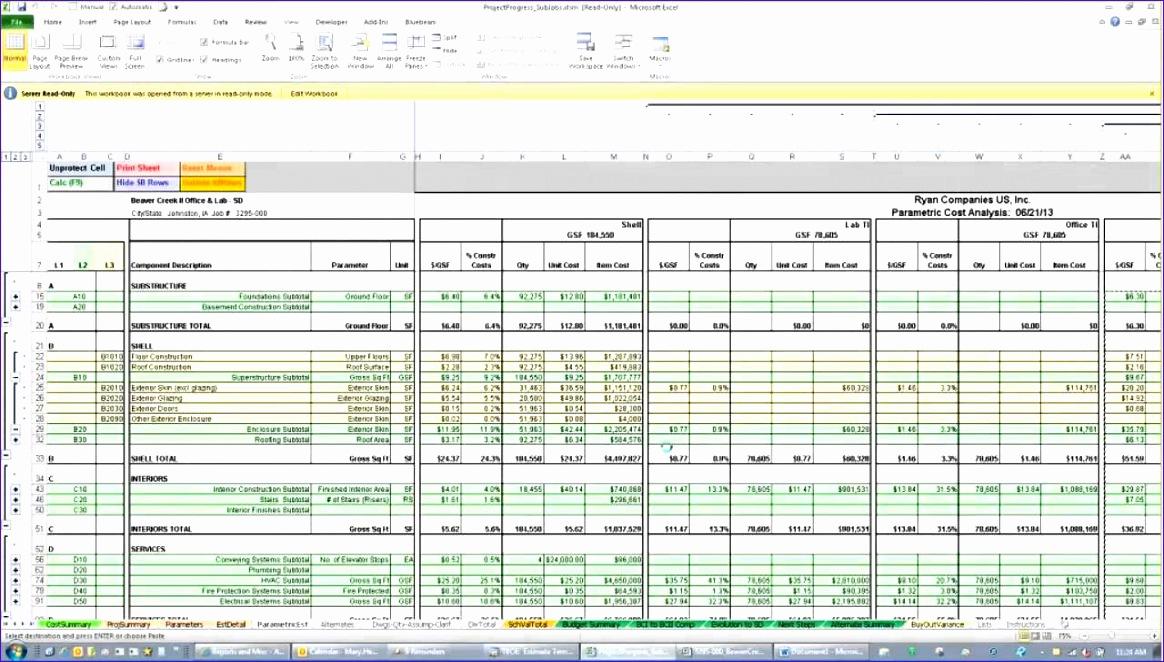 estimate spreadsheet template 1164662