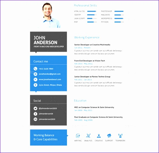 web developer resume templates 546524