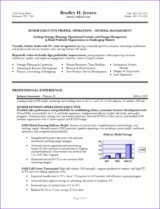 executive resume template 546712