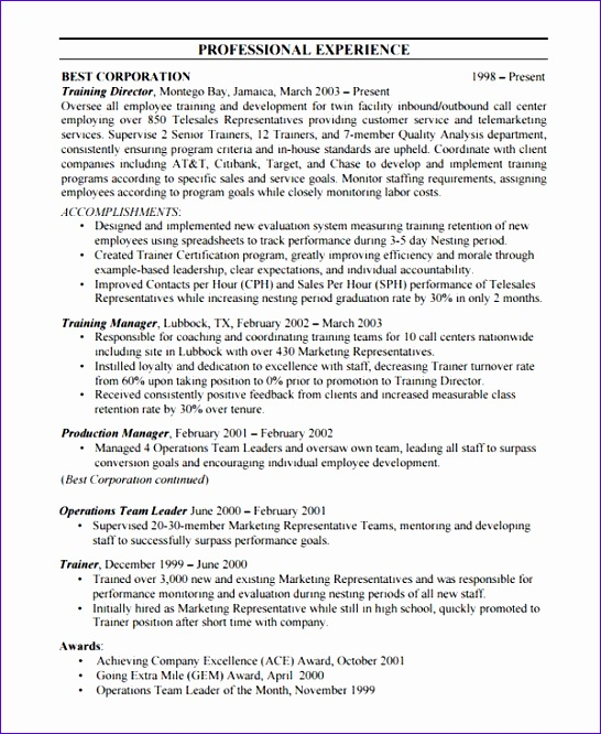 bpo resume templates 546666
