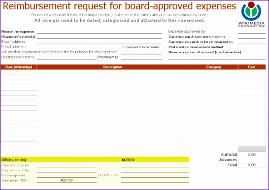 Excel File Template Wdsbr Best Of File Reimbursement Request form Xls Meta 600420