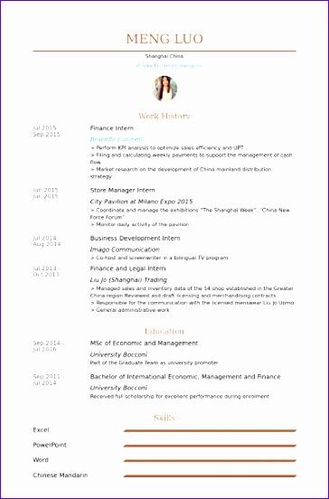 finance intern cv examples 364552