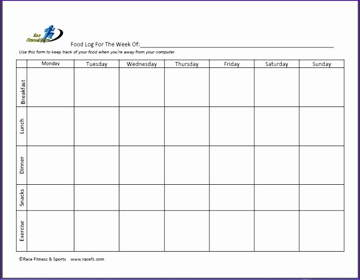 printable food diary 736573