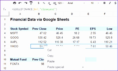 excel stock quotes 411250