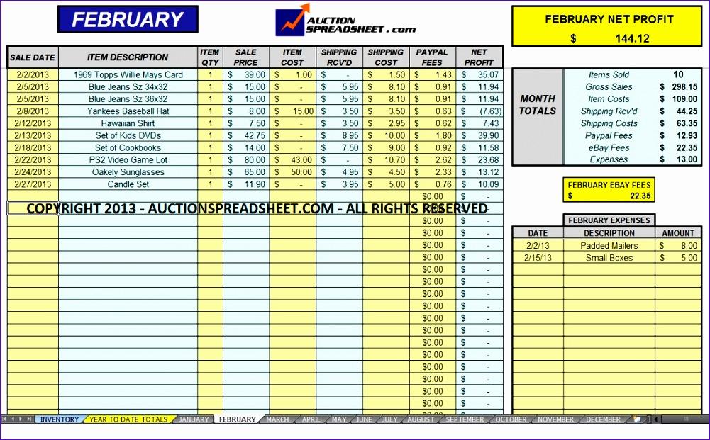 Excel Formula Templates Nkdam Awesome Ebay Spreadsheet