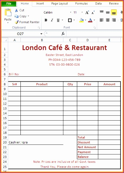 7 restaurants bill format in pdf 424591