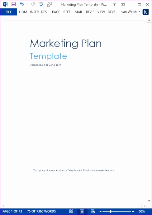 marketing plan templates 488690