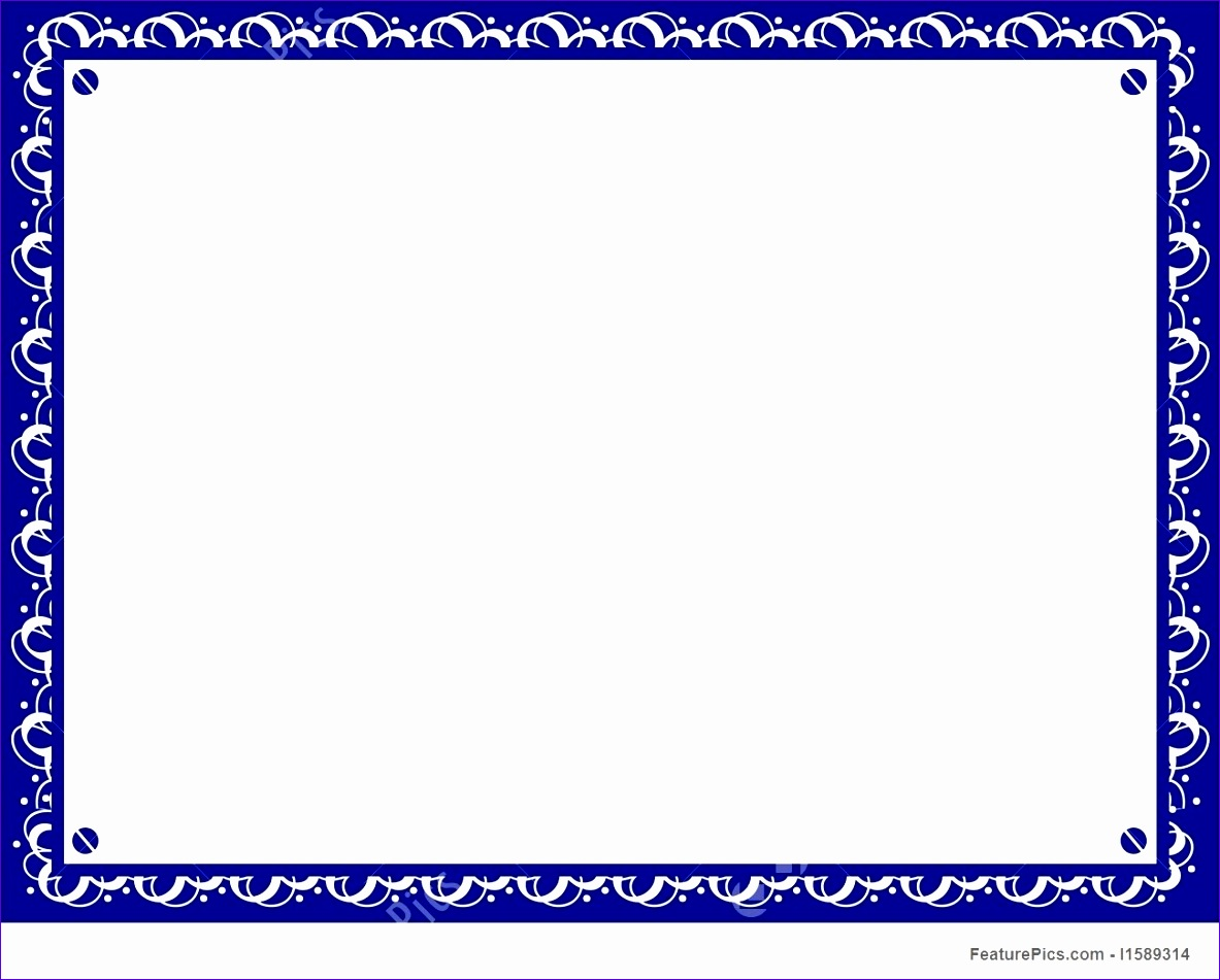 certificate border template blue 1183951