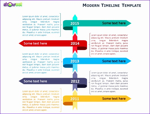 modern timeline template for powerpoint 524397