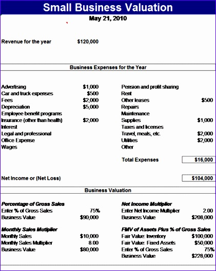 small business valuation 88 421529