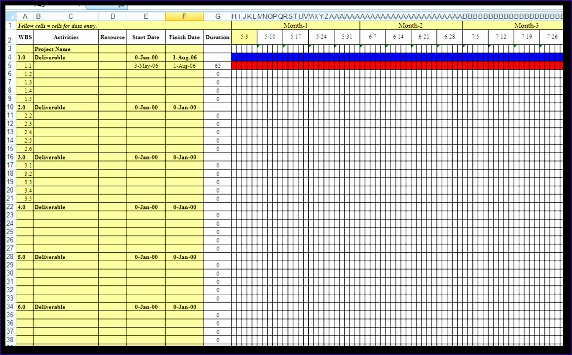 7 excel gantt template free - excel templates